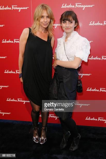 Actress Rosanna Arquette and daughter Zoe Sidel attend the Ferragamo event with Debi Mazar and Adrian Grenier to benefit the L'Aquila earthquake...