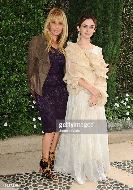 Actress Rosanna Arquette and daughter Zoe Sidel attend the Rape Foundation's annual brunch at Greenacres, The Private Estate of Ron Burkle on October...