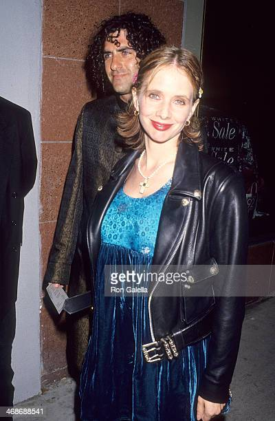 Actress Rosanna Arquette and husband John Sidel attend Pamela Barish's Fall Collection Fashion Show on April 20 1994 at the Renaissance Supperclub in...