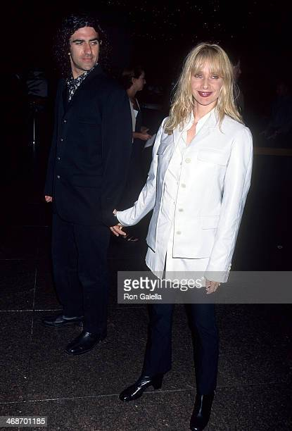 Actress Rosanna Arquette and husband John Sidel attend the Beyond Rangoon West Hollywood Premiere on August 22 1995 at the DGA Theatre in West...