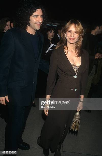 Actress Rosanna Arquette and husband John Sidel attend the Lost Highway Hollywood Premiere on February 18 1997 at the Cinerama Dome Theatre in...