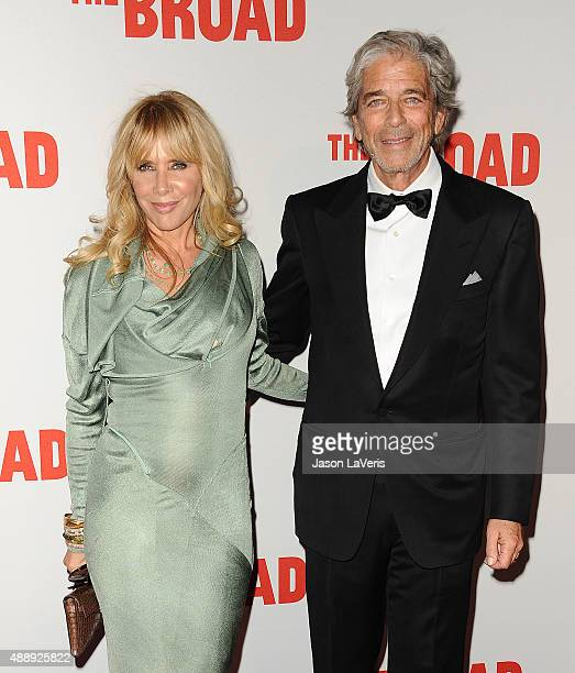 Actress Rosanna Arquette and husband Todd Morgan attend the Broad Museum black tie inaugural dinner at The Broad on September 17 2015 in Los Angeles...