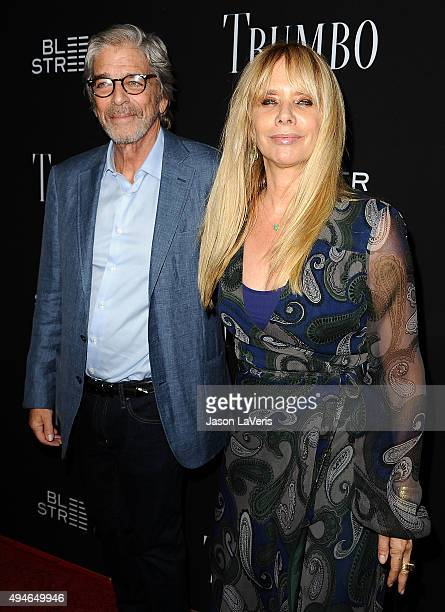 Actress Rosanna Arquette and husband Todd Morgan attend the premiere of Trumbo at Samuel Goldwyn Theater on October 27 2015 in Beverly Hills...