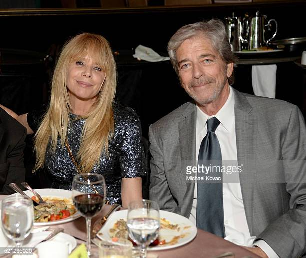 Actress Rosanna Arquette and investment banker Todd Morgan attend the ADL Entertainment Industry Dinner at The Beverly Hilton Hotel on April 14 2016...