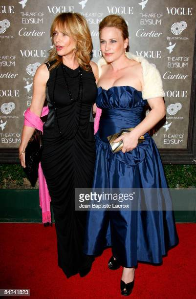 Actress Rosanna Arquette and sister Patricia Arquette arrive at the Art of Elysium 2nd Annual Heaven Gala held at Vibiana on January 10, 2009 in Los...
