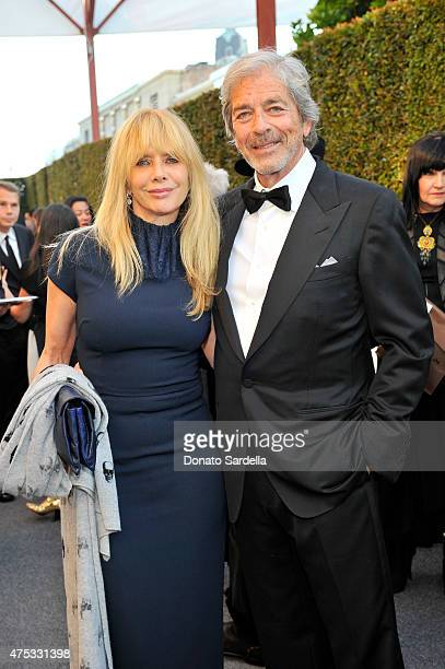 Actress Rosanna Arquette and Todd Morgan attend the 2015 MOCA Gala presented by Louis Vuitton at The Geffen Contemporary at MOCA on May 30 2015 in...
