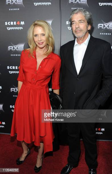 Actress Rosanna Arquette and Todd Morgan attend the World Premiere of The Weinstein Company's Scream 4 presented by AXE Shower held at the Grauman's...