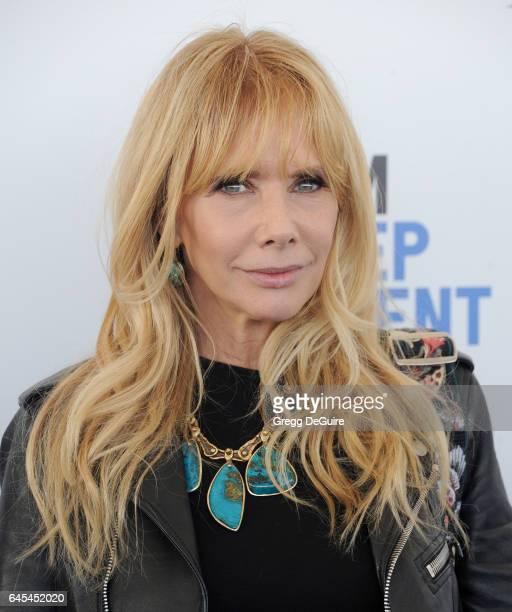 Actress Rosanna Arquette arrives at the 2017 Film Independent Spirit Awards on February 25 2017 in Santa Monica California