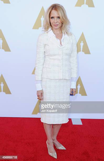 Actress Rosanna Arquette arrives at The Academy Hosts Hollywood Costume Private Luncheon at Wilshire May Company Building on October 8, 2014 in Los...