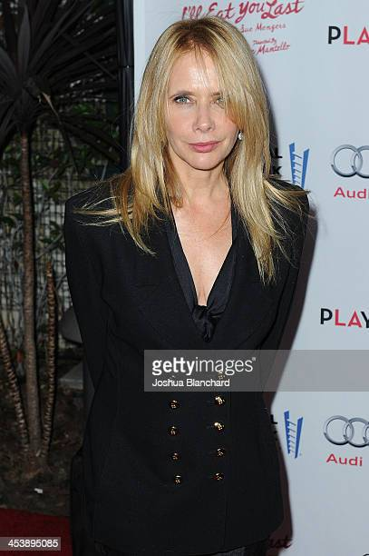 Actress Rosanna Arquette arrives at the Geffen Playhouse for the opening night of 'I'll Eat You Last A Chat with Sue Mengers' with Bette Midler on...