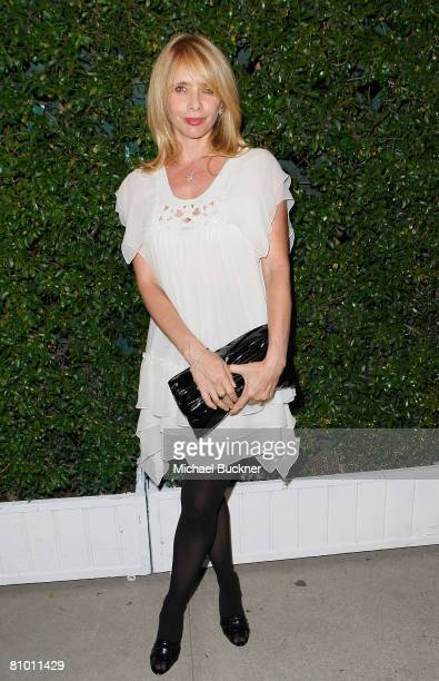 Actress Rosanna Arquette arrives at the screening of The Party at the Stella McCartney Boutique on May 6 2008 in Los Angeles California