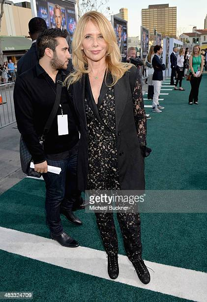 """Actress Rosanna Arquette attends Premiere Of Summit Entertainment's """"Draft Day"""" at Regency Bruin Theatre on April 7, 2014 in Los Angeles, California."""