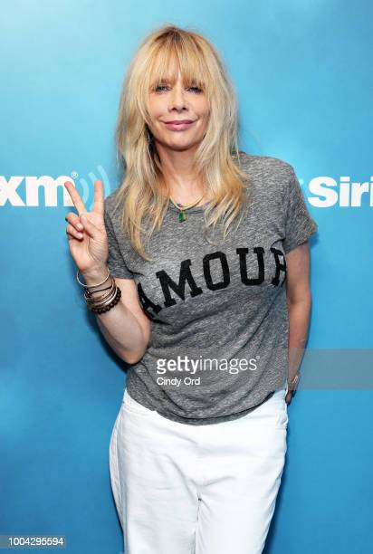 Actress Rosanna Arquette visits SiriusXM's 'Radio Andy' at the SiriusXM Studios on July 23 2018 in New York City