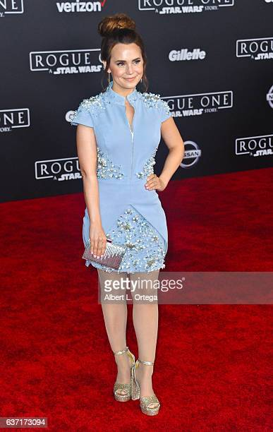 Actress Rosanna Pansino arrives for the Premiere Of Walt Disney Pictures And Lucasfilm's 'Rogue One A Star Wars Story' held at the Pantages Theatre...