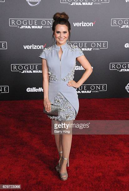 Actress Rosanna Pansino attends the premiere of Walt Disney Pictures and Lucasfilms' 'Rogue One A Star Wars Story' at the Pantages Theatre on...
