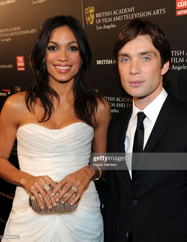 Actress Rosario Dawson and actor Cillian Murphy arrive at the BAFTA Los Angeles 2010 Britannia Awards held at the Hyatt Regency Century Plaza on November 4, 2010 in Century City, California. The BAFTA Los Angeles 2010 Brittania Awards will be aired on the TV Guide Channel on November 7th, 2010.