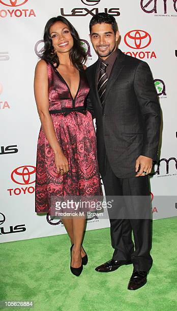 Actress Rosario Dawson and actor Wilma Valderrama attend the 20th annual Enviornmental Media Association Awards at Warner Brothers Studios on October...