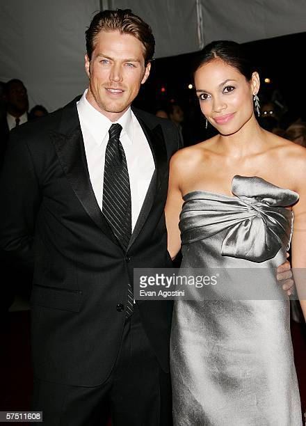 Actress Rosario Dawson and boyfriend Jason Lewis attend the Metropolitan Museum of Art Costume Institute Benefit Gala AngloMania Tradition and...