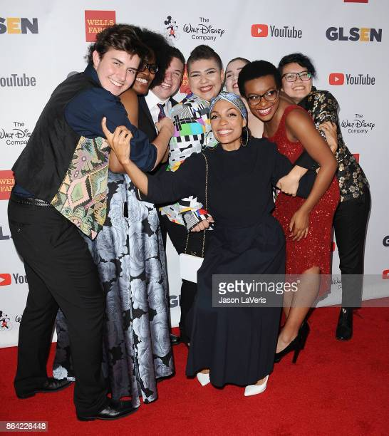 Actress Rosario Dawson and GLSEN's National Student Council members attend the 2017 GLSEN Respect Awards at the Beverly Wilshire Four Seasons Hotel...