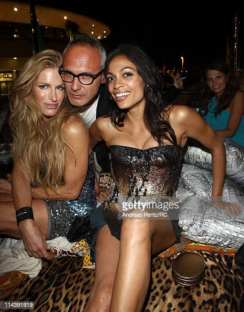 Actress Rosario Dawson and guests attend a private dinner on the Cavalli yacht during the 64th Annual Cannes Film Festival on May 18 2011 in Cannes...