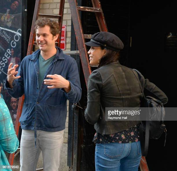 Actress Rosario Dawson and Joshua Jackson are seen outside in midtown on May 22 2018 in New York City