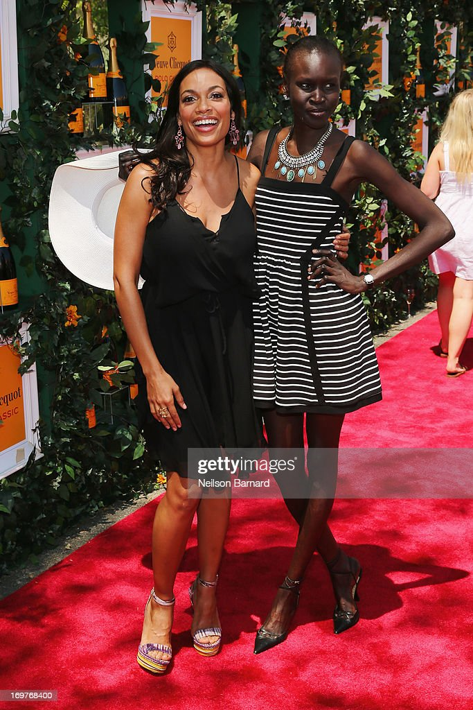 Actress Rosario Dawson and model Alek Wek attends the sixth annual Veuve Clicquot Polo Classic on June 1, 2013 in Jersey City.