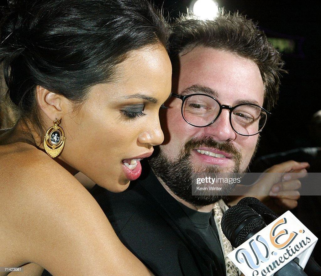 Actress Rosario Dawson And Writer/director Kevin Smith