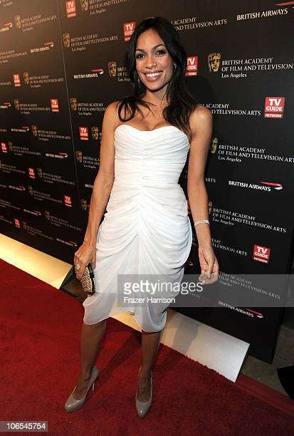 Actress Rosario Dawson arrives at the BAFTA Los Angeles 2010 Britannia Awards held at the Hyatt Regency Century Plaza on November 4 2010 in Century...