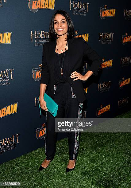 Actress Rosario Dawson arrives at 'The Hobbit The Desolation of Smaug' Expansion Pack Kabam Mobile Game Launch Party at Eveleigh on December 11 2013...