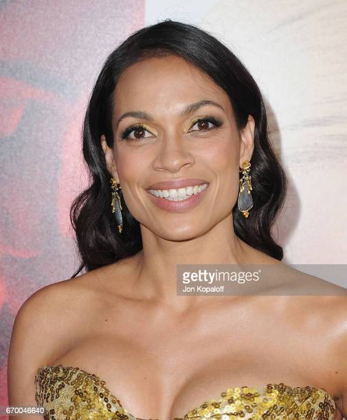 Actress Rosario Dawson arrives at the Los Angeles Premiere Unforgettable at TCL Chinese Theatre on April 18 2017 in Hollywood California