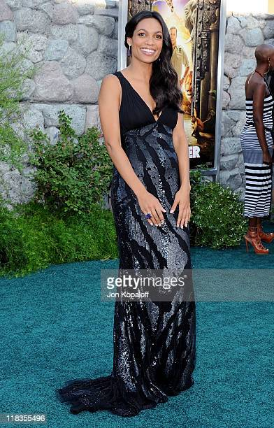 Actress Rosario Dawson arrives at the Los Angeles Premiere 'Zookeeper' at Regency Village Theatre on July 6 2011 in Westwood California