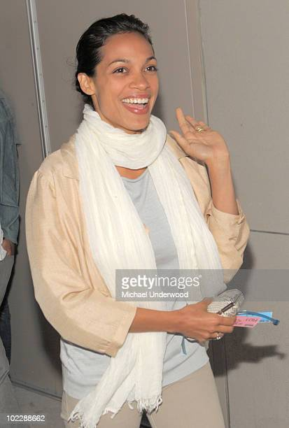 Actress Rosario Dawson arrives at the screening of Paramount Pictures' Waiting For Superman held at Regal Cinemas LA Live Stadium 14 on June 21 2010...