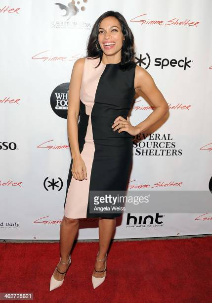 Actress Rosario Dawson arrives at the screening of Roadside Attractions Day 28 Films 'Gimme Shelter' at the Egyptian Theatre on January 14 2014 in...