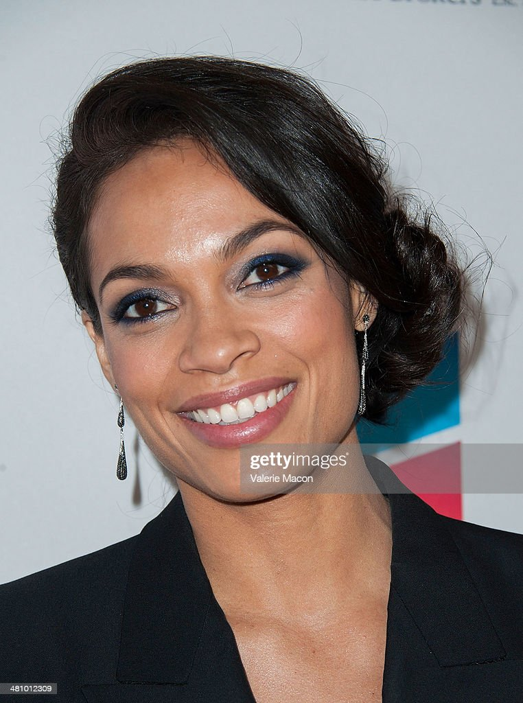 Actress Rosario Dawson arrives at The The Cesar Chavez Foundation's 2014 Legacy Awards Dinner at Millennium Biltmore Hotel on March 27, 2014 in Los Angeles, California.