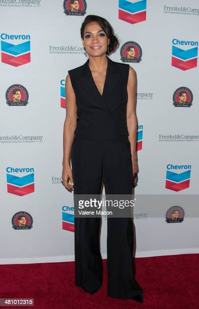 Actress Rosario Dawson arrives at The The Cesar Chavez Foundation's 2014 Legacy Awards Dinner at Millennium Biltmore Hotel on March 27 2014 in Los...
