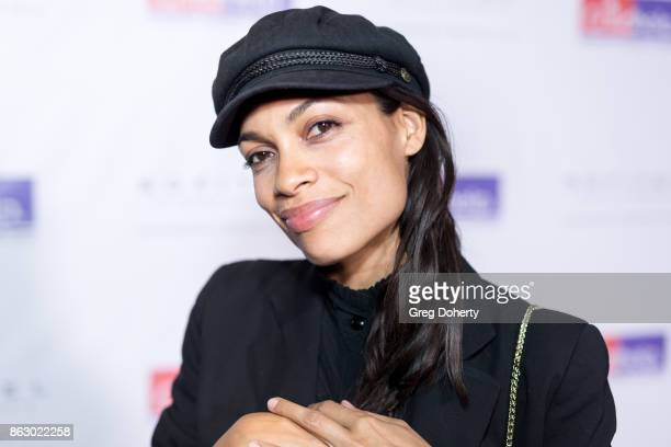 Actress Rosario Dawson arrives for the Childhelp Hosts An Evening Celebrating Hollywood Heroes at Riviera 31 on October 18 2017 in Beverly Hills...