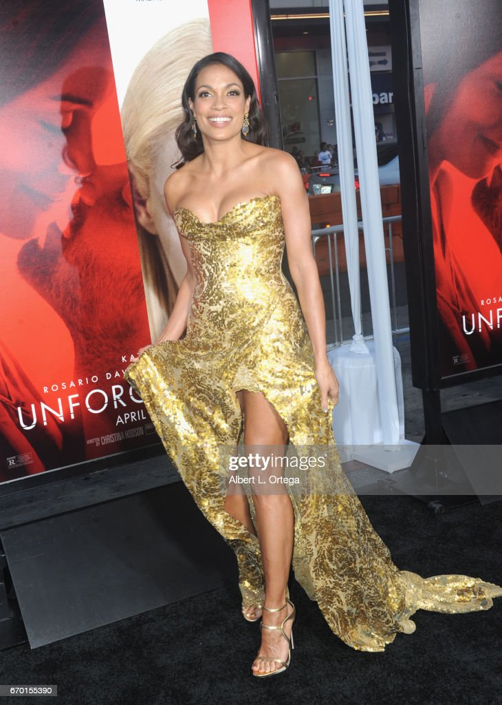 Actress Rosario Dawson arrives for the Premiere Of Warner Bros. Pictures' 'Unforgettable' held at TCL Chinese Theatre on April 18, 2017 in Hollywood, California.