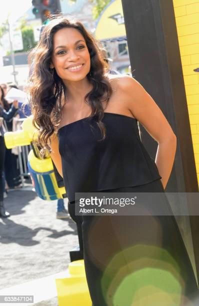 Actress Rosario Dawson arrives for the Premiere Of Warner Bros Pictures' 'The LEGO Batman Movie' held at Regency Village Theatre on February 4 2017...