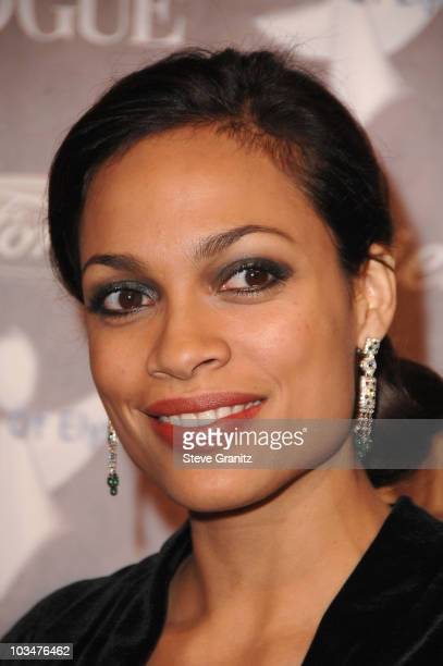Actress Rosario Dawson arrives to The Art of Elysium 10th Anniversary Gala at Vibiana on January 12, 2008 in Los Angeles, California.