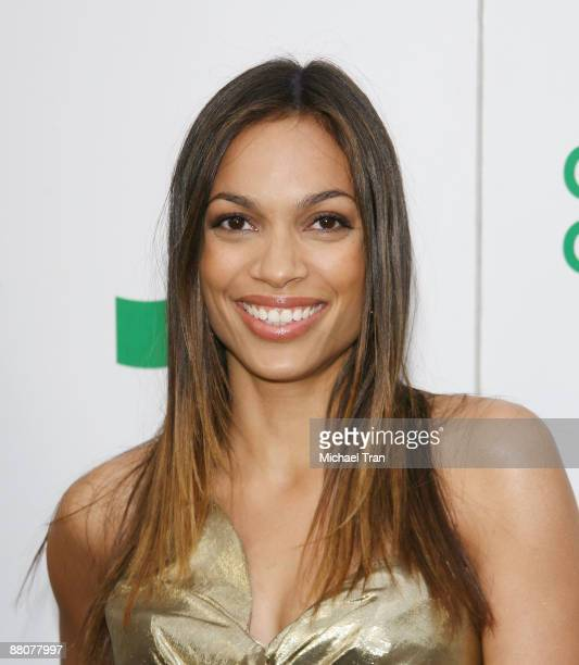 Actress Rosario Dawson arrives to the Global Green USA's 13th Annual Millennium Awards held at the Fairmont Miramar Hotel on May 30 2009 in Santa...
