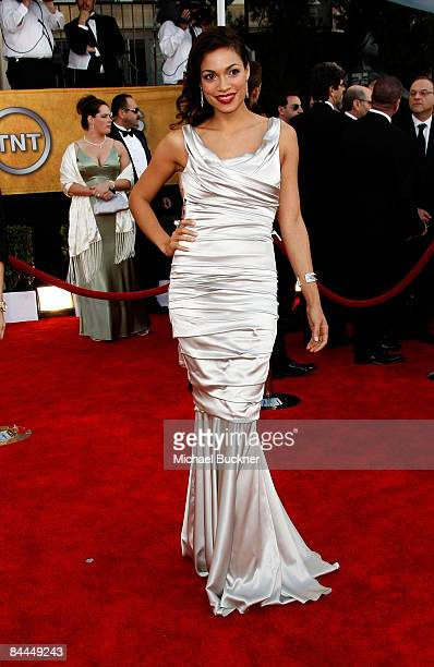 Actress Rosario Dawson arrives to the TNT/TBS broadcast of the 15th Annual Screen Actors Guild Awards at the Shrine Auditorium on January 25, 2009 in...