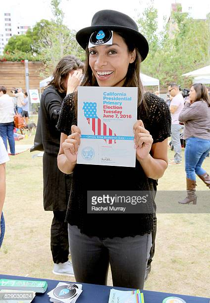 Actress Rosario Dawson attend the mitu TACO Challenge on May 7 2016 in Los Angeles California