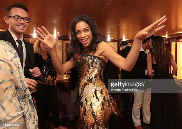 Actress Rosario Dawson attends a private dinner on the Cavalli yacht during the 64th Annual Cannes Film Festival on May 18 2011 in Cannes France