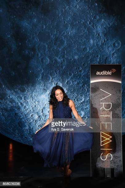 Actress Rosario Dawson attends Artemis Journey To The Moon presented by Audible at Hudson River Park's Classic Car Club In New York on October 5 2017...