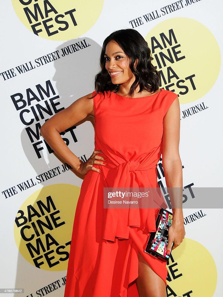 Actress Rosario Dawson attends BAMcinemaFest 2015 'Kids' 20th Anniversary Screening at BAM Peter Jay Sharp Building on June 25, 2015 in New York City.