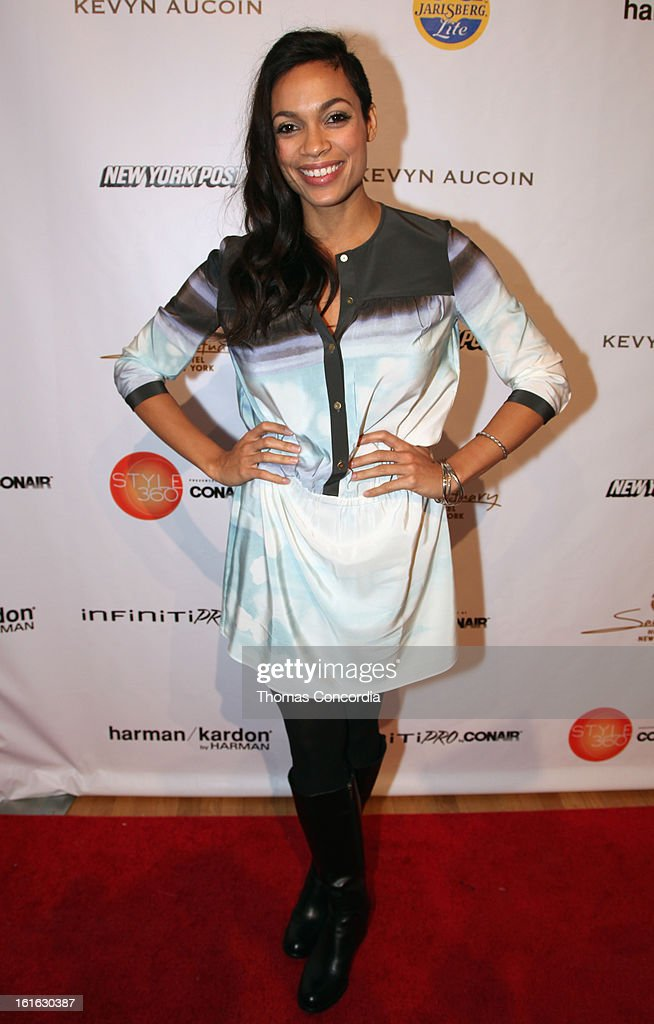 Actress Rosario Dawson attends Boy Meets Girl by Stacy Igel the 'Invasion Collections' Fashion Show at STYLE360 presented by Conair Fashion Pavilion on February 13, 2013 in New York City.