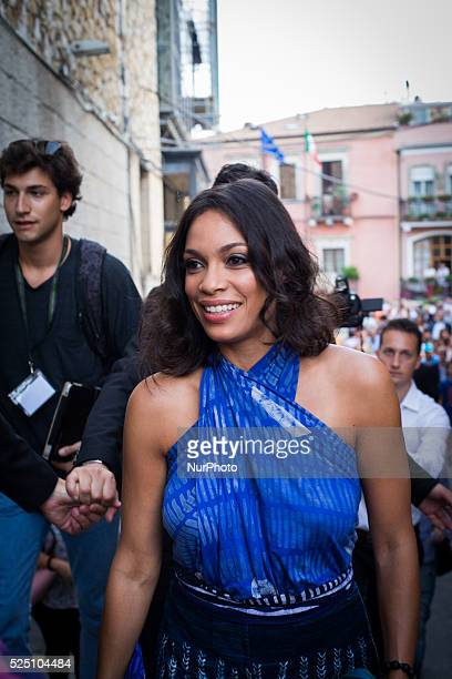 Actress Rosario Dawson attends Day 1 of the 61th Taormina Film Fest on June 13 2015 in Taormina Italy The festival runs from 13 to 20 June