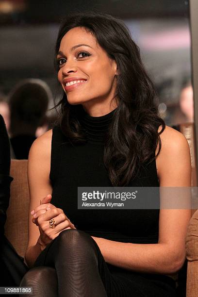 Actress Rosario Dawson attends Eve Ensler and V-Day celebrate the opening of City of Joy in the DRC held at Soho House on International Women's Day...
