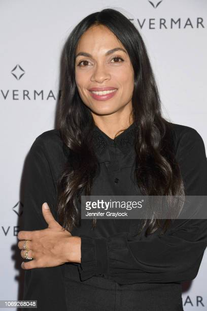 Actress Rosario Dawson attends Forevermark Diamonds Females In Focus Photo Exhibition Event on December 6 2018 in New York City