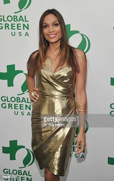 Actress Rosario Dawson attends Global Green USA's 13th Annual Millennium Awards at the Fairmont Miramar Hotel on May 30 2009 in Santa Monica...